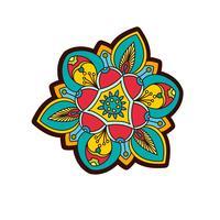 Pivoine ornementale, fleur rose avec un œil de providence.