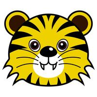 Vecteur de tigre mignon.