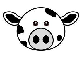 Visage mignon de vache.