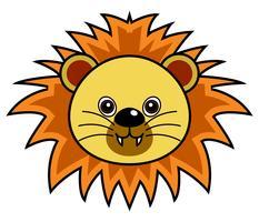 Lion mignon Vector.