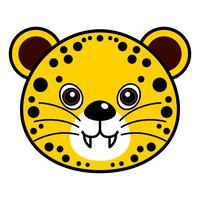 Vecteur de guépard mignon.