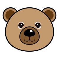 Vecteur d'ours mignon.