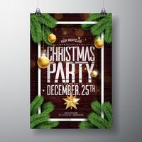 Joyeux Noël Party Design vecteur