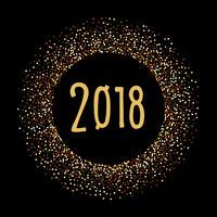 2018. Bannière de Noël et du nouvel an vecteur