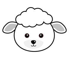 Vecteur de mouton mignon.