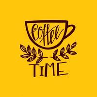 Mais premier lettrage de café. vecteur