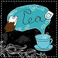 Modèle de conception de l'heure du thé
