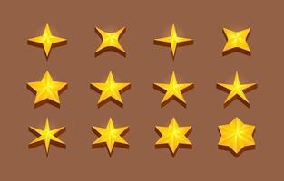collection de forme d'étoile 3d vecteur