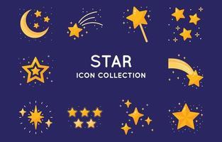 ensemble de collection d'icônes étoiles vecteur
