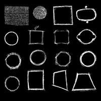 Formes géométriques à main levée, hachures. vecteur