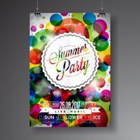 Flyer fête d'été vecteur