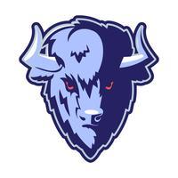 Mascotte logo tête de buffle vecteur
