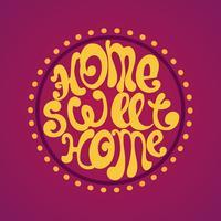 Accueil Sweet Home, illustration vectorielle de fond