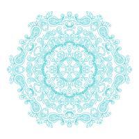 Mandala ésotérique floral vintage d'ornement rond. vecteur