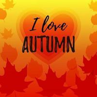 bannière d'automne avec des feuilles d'érable. place pour le texte. illustration vectorielle vecteur