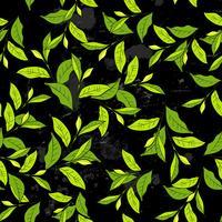 Modèle sans couture avec des feuilles de style vintage.