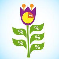 Diagramme d'infographie fleur tulipe