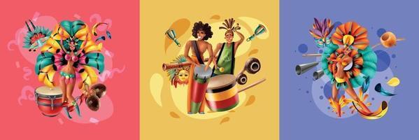 concept de design de carnaval au brésil vecteur