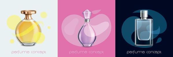 concept de design de parfum vecteur