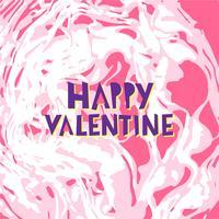 Heureux Saint Valentin lettrage vecteur