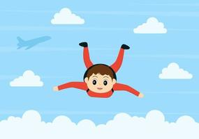 parachutisme sport d'activités de plein air à l'aide d'un vecteur de parachute
