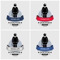 Création de logo de docteur. vecteur