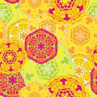 Modèle sans couture gypsy des mandalas ronds multicolores abstraits vecteur