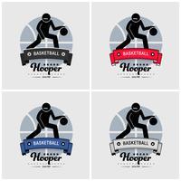 Création du logo du club de basketball. vecteur