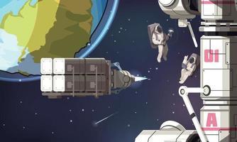 fond de mission spatiale vecteur