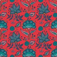 Ornement de paisley Indian National pour le coton, les tissus de lin
