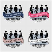 Soutenir la création du logo du centre du groupe. vecteur