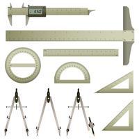 Instrument de mesure des mathématiques. vecteur
