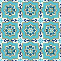 Azulejo portugais. Motifs blancs et bleus.