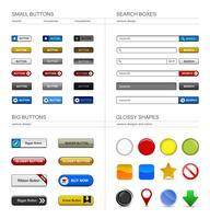 Élément de bouton de conception Web. vecteur