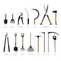 Ensemble d'outils de jardinage.