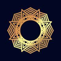 Mandalas en or. Méditation de mariage indien. vecteur