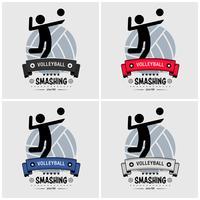 Création du logo du club de volleyball. vecteur