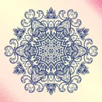 Mandala Amulette ronde florale vintage tatoo vecteur