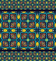 Modèle sans couture mexicain Talavera oblana vecteur