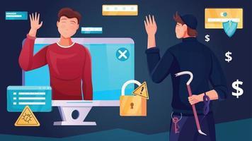 abstrait de la cybersécurité vecteur