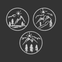 illustration de la nature de la montagne vecteur