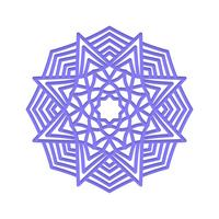 Mandala Méditation de mariage indien. vecteur