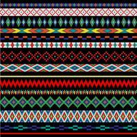 Motifs de bordure de perles amérindiennes vecteur