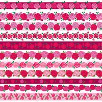 motifs de bordure rose vecteur