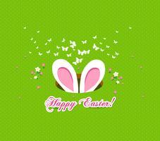 heureux fond de lapin et des oeufs de Pâques