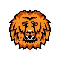 Mascotte le museau d'un lion. vecteur