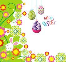 fleurs de Pâques avec lapin