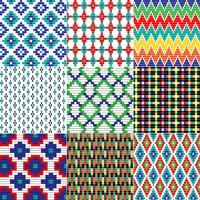 motifs géométriques perlés sans soudure vecteur