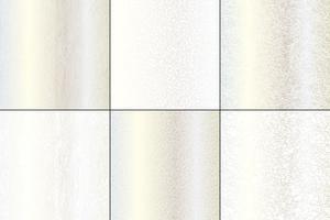 Textures naturelles argentées et blanches métalliques vecteur