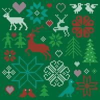 clipart motifs nordiques brodés graphiques